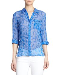 Diane von Furstenberg Lorelei Two Printed Silk Blouse - Lyst