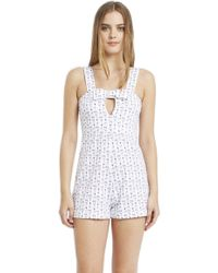 Morgan Lane | Zoe Romper In Lanie Eve | Lyst