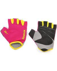 Reebok - Fitness Gloves In Magenta - Medium - Lyst