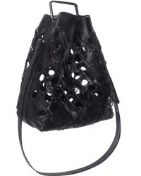 3.1 Phillip Lim Quill Cutout Bucket Bag In Black Quill Cutout Bucket Bag In Black black - Lyst