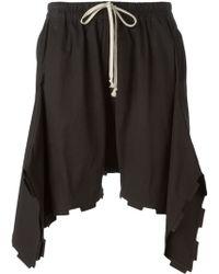 Rick Owens Asymmetric Shorts - Lyst