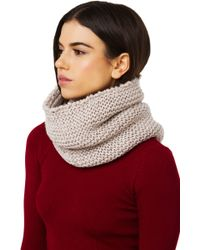 Akira Black Label - Thick Knit Infinity Snood - Oatmeal - Lyst