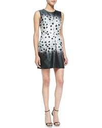 Milly Camellia Coco Sleeveless Floral-print Dress - Lyst