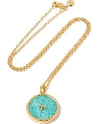 Monica Vinader - Atlantis Gold-plated Amazonite Necklace - Lyst