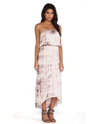 Velvet By Graham & Spencer Tippie Tie Dye Rayon Voile Dress - Lyst