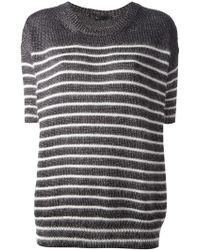 Gucci Striped Boxy Jumper - Lyst