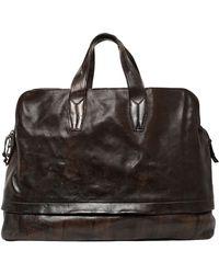 Officine Creative Brushed Leather Duffle Bag - Black