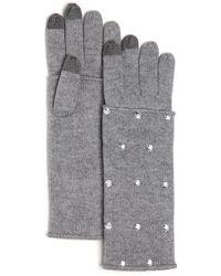 Aqua - Embellished Tech Gloves - Lyst
