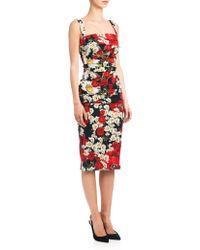 Dolce & Gabbana | Charmeuse Floral Sheath | Lyst