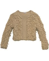 525 America Crop Fringe Jacket beige - Lyst
