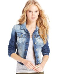 Jessica Simpson Pixie Denim Jacket - Lyst