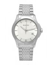Gucci Men'S G-Timeless Silver Dial Stainless Steel Bracelet - Lyst