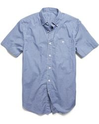 Todd Snyder | Short Sleeve Shirt In Blue Micro Check | Lyst