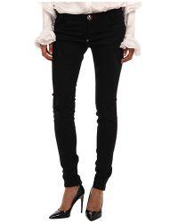 Philipp Plein Black Jeans Shiny - Lyst