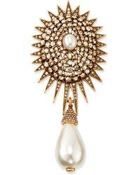 Oscar de la Renta Pearly Star Brooch - Lyst