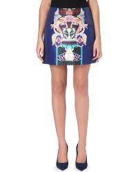 Mary Katrantzou Kali Mini Skirt Navy - Lyst