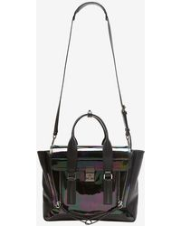 3.1 Phillip Lim Pashli Medium Iridescent Leather Satchel - Lyst