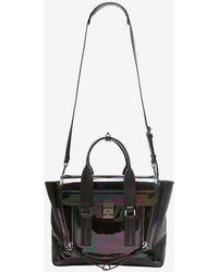 3.1 Phillip Lim Pashli Medium Iridescent Leather Satchel - Lyst
