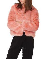 n:PHILANTHROPY - Pink Heather Faux-Fur Jacket - Lyst