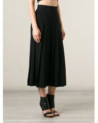 Moschino Vintage Black Pleated Skirt - Lyst