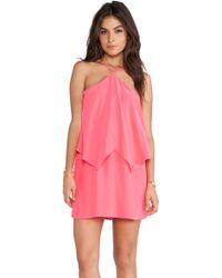 Amanda Uprichard Pink Bangle Dress - Lyst
