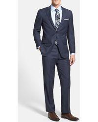 Hart Schaffner Marx 'New York' Classic Fit Stripe Wool Suit - Lyst