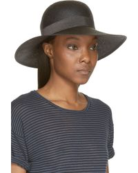 Rag & Bone Black Wide Brim Beach Hat - Lyst
