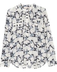 Rebecca Taylor Geo Print Double Pocket Top - Lyst