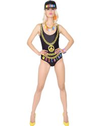 Moschino Printed Lycra One Piece Swimsuit - Lyst
