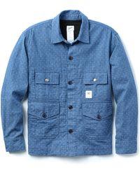 Garbstore Woven Cross Flight Shirt blue - Lyst
