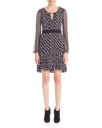 Diane von Furstenberg | Fionna Printed Ruffle Dress | Lyst