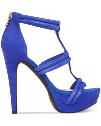 Jessica Simpson Solena T-Strap Platform Sandals - Lyst