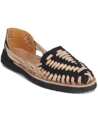 Ix Style | Children's Black Woven Leather Huarache Sandals | Lyst