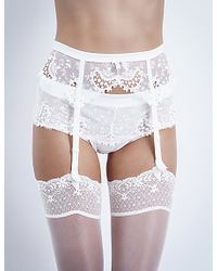 Simone Perele - Wish Lace Suspender Belt - Lyst