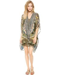 Camilla Short Lace Up Caftan  Halcyon - Lyst