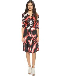 Issa Phylis Dress - Red Fluro Multi - Lyst