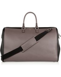 Serapian - Evolution Two-tone Textured-leather Weekend Bag - Lyst