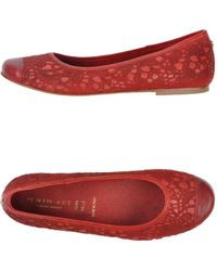 Twin-set Simona Barbieri Red Ballet Flats - Lyst