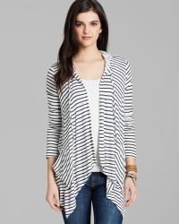 Splendid Cardigan Montrose Stripe Hooded - Lyst