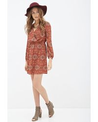 Love 21 Paisley Print Dress - Lyst