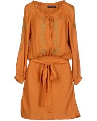 Antik Batik Orange Short Dress - Lyst