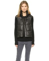 Tess Giberson Abstract Down Vest Blackbirdseye - Lyst