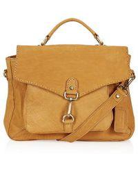 Topshop Leather Vintage-Look Satchel - Lyst