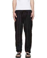 3.1 Phillip Lim Black Stripe Stitched Lounge Pants - Lyst
