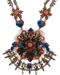 Vickisarge - Large Moroccan Rose Crystal Necklace - Lyst