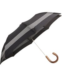 Barneys New York Striped Folding Umbrella - Lyst