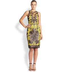 Sachin & Babi Noir Applique-detail Lace-overlay Dress - Lyst