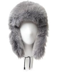 Adrienne Landau X Bryanboy Fox Fur Trapper Hat - Lyst