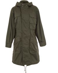 ATM - Dark Green Hooded Cotton Parka Jacket - Lyst