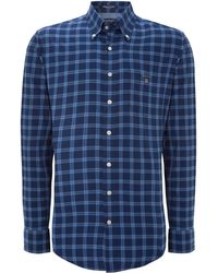 Gant Long Sleeve Twill Check Shirt - Lyst